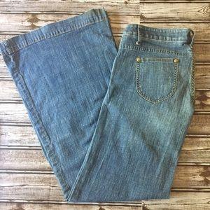 Free People Wide Leg Flare Jeans